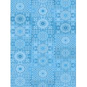 Decopatch Paper 622 - Half Sheet - Blue Squares/Paisley