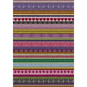Decopatch Paper 612 - Half Sheet -  Purple Knitted