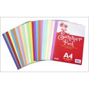 A4 Summer Card And Paper Pack - 100 Sheets