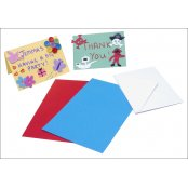 Coloured Card Blanks 4 Pack - Primary