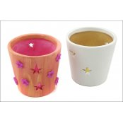 Terracotta Candle Holder - Stars
