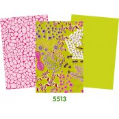 Decopatch Paper Green  Pack - 3 Half Sheets Floral, Mottled, Plain