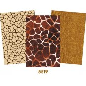 Decopatch Brown Paper Pack - 3 Half Sheets , Animal Print, Plain, Mottled