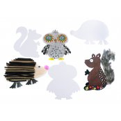 Woodland Animal Card Cut Outs - Pack of 9