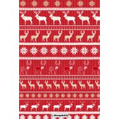 Decopatch Paper 611 - Half Sheet - Red Reindeers