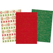 Decopatch Christmas Paper Pack - 3 Half Sheets per Pack