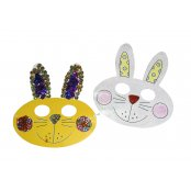 Easter Bunny Masks - 5 Pack
