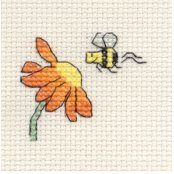 'Tiddlers' Cross Stitch Kit - Visiting Bee