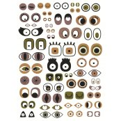 Decopatch Paper 668 - Half Sheet - Eyes