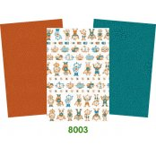 Decopatch Paper Robot Pack - 3 Half Sheets, Robots, Blue and Deep Orange