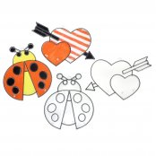 Simple Suncatchers (Ladybird & Heart) - Pack of 2