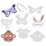 Assorted Animal Masks - Pack of 16