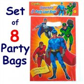 Super Hero Party Bags - 8 Pack