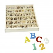 Wooden Letters And Numbers - 288 Pack