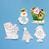 Colour In Christmas Magnets (4 Pack)