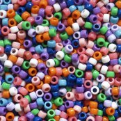 Coloured Pony Beads - 800 Pack