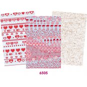 Decopatch Pink Paper Pack - 3 Half Sheets , Oriental and Mottled