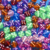 Dice Beads - 100 Pack