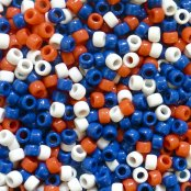 Red White And Blue Pony Beads - 600 Pack