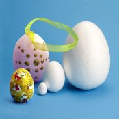 Polystyrene Eggs - 90mm (10 Pack)