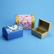 Paper Mache Treasure Chests/Jewellery Boxes - 3 Pack