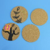 Cork Coasters - 4 Pack