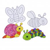 Preprinted Insect Cutouts - 4 Pack