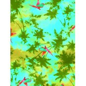 Decopatch Paper 693 - Half Sheet - Tropical Blue Green Paradise