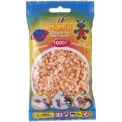 Hama Beads Solid Colours 1000 Pack - 56 Glow In The Dark Red