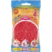 Hama Beads Solid Colours 1000 Pack - 35 Neon Red
