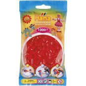 Hama Beads Solid Colours 1000 Pack - 13 Translucent Red