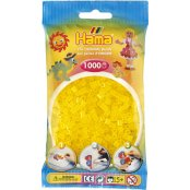 Hama Beads Solid Colours 1000 Pack - 14 Translucent Yellow
