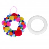 Polystyrene Wreaths - 22cm Single