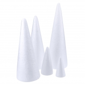 100 X 50mm Solid Polystyrene Cone(Pack of 10)