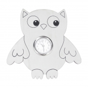 Preprinted Wooden Owl Clock