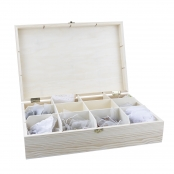Wooden Chest with Compartments - 30.5 x 20.5 x 7.5cm