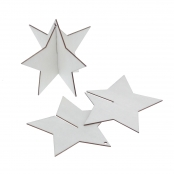 3D Star Wooden Hanging Decoration