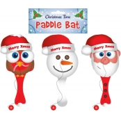 Christmas Wooden Paddle Bat - Ball & Bat Toy