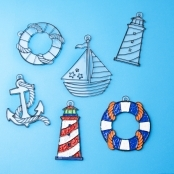 Nautical Suncatchers - Pack Of 4