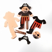 Foam Pirate Clothes Peg Kit
