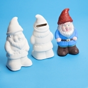Ceramic Gnome Coin Banks - 12 Pack