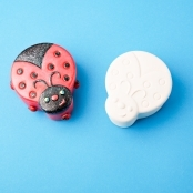 Unglazed Ceramic Ladybird Trinket Box - Single