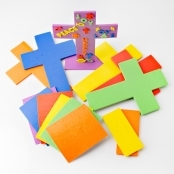 Foam Cross & Stand Kit (approx 250 stickers) - Pack Of 6