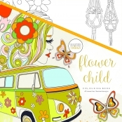 KaiserColour 'Flower Child' Adult Colouring Book