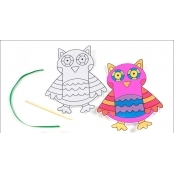 Owl Collage Sticky Back Sheets - Pack Of 6
