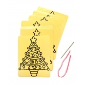 Christmas Tree Collage Sheets - Pack Of 6