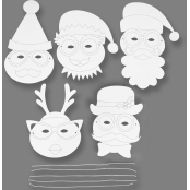 Christmas Colour In Masks - Pack Of 16