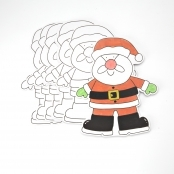 Father Christmas to Colour In (pack Of 10)