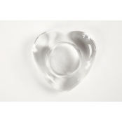 Clear Glass Heart Shaped Tea Light Holder