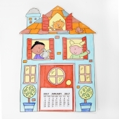 2018 Home Sweet Home Colour In Calendar Kit - Makes 10